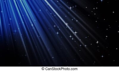 Light Rays on Starry Sky in 4 different colors loopable ...