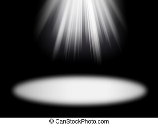 rays on the black background