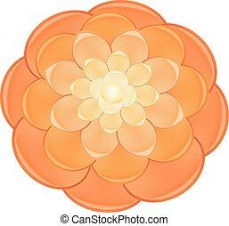 Light red camellia icon, cartoon style