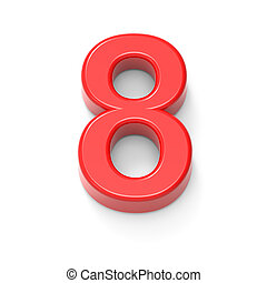 light red number 8
