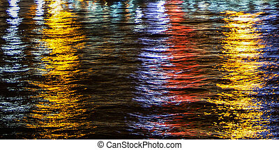 Light Reflections on water