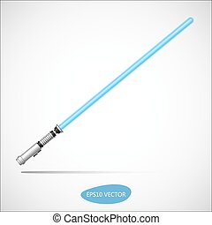 Light Saber - Futuristic Energy Weapon. Isolated Vector...