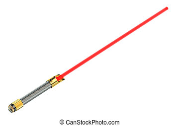 Light saber isolated on white background