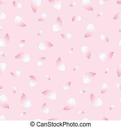 Light seamless pattern pink with flowers sakura.eps