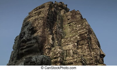 Light shadow on Bayon bas relief  timelapse