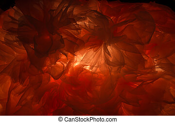 Light shines through red cloth abstract artistic beauty texture background