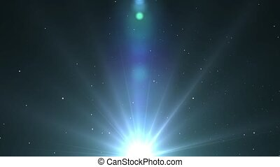 Light shining blue star with long r