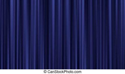 Light shining on a closed velvet curtain - Background...