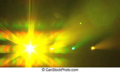 Light Show 1 - Colored lights flashing and flaring in to the...