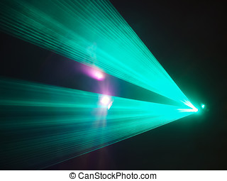 Light show in disco club