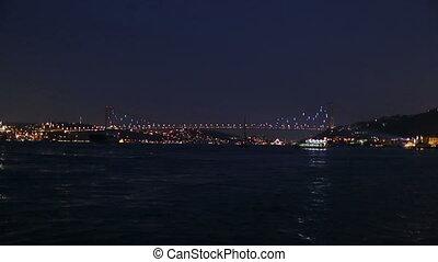 light show - Bosphorus Bridge light show at the istanbul...