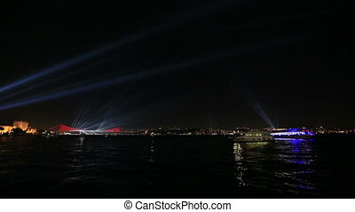 light show - beautiful visual light show on the Bosporus...