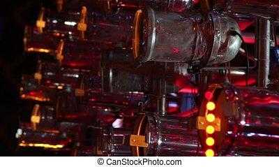 Light show technique work beyond metal net and illumination...