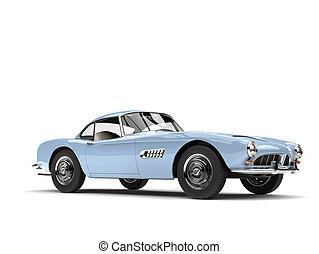Light sky blue vintage sports car