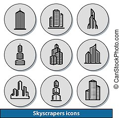 Light skyscrapers icons