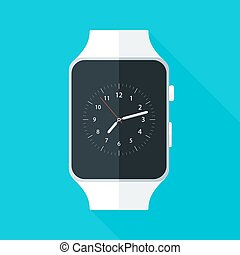 Light Smart Watch Flat Stylized