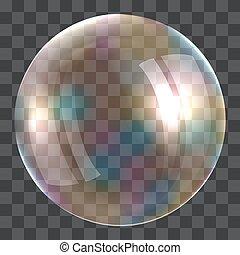 Light soap bubble concept background, realistic style -...