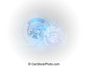 tech elements as abstract soft background