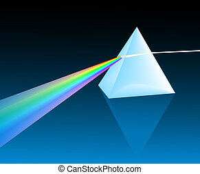 light spectrum - ray of light refracting through a pyramid