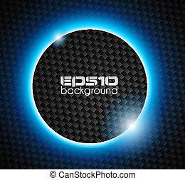 LIght Sphere over Carbon look backgroud - Transparent Sphere...