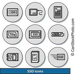 Light SSD icons