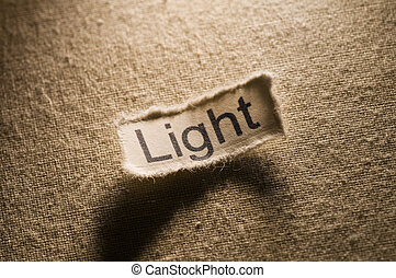 Light - Picture of a word light.