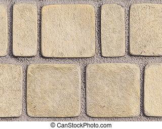 light stone path - light textured paving tiles imitating ...