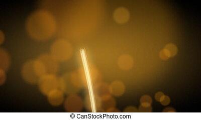 light streak and blurred circle lights. CG. Progressive scan