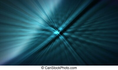 Light streaks in blue loop