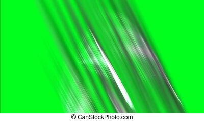 Light Streaks On A Green Screen Background