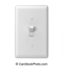 Light switch. 3d illustration isolated on white background