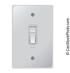 Light Switch - A simple yet highly detailed image of a light...