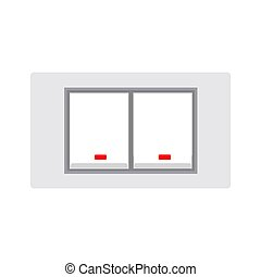 Light switch electrical interior equipment flat sign vector icon