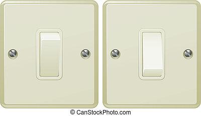 Light switch illustration - Illustrations of a light switch...