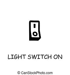 Light Switch On flat vector icon