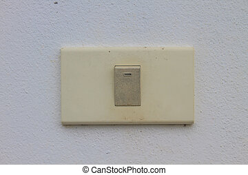 Light switch on the old wall