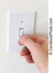 Light Switch close up shot,  Environmental Conservation