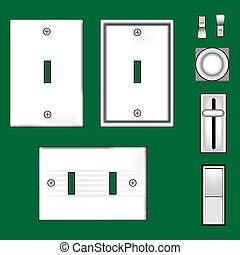 Light switches and faceplates