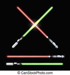 Light swords vector
