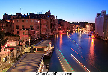 Venice - Light Trail of Passenger ship at Grand canal from ...