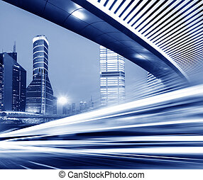Light trails - light trails on the street in shanghai ,China...