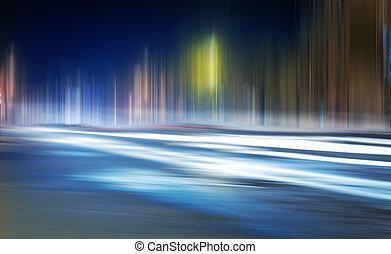 Light trails on a city