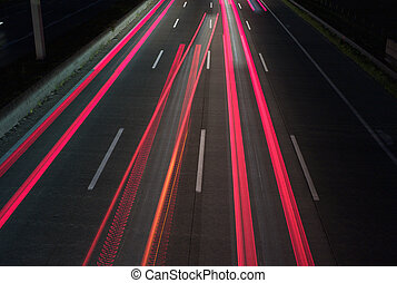 Light Trails on a Motorway - abstract background