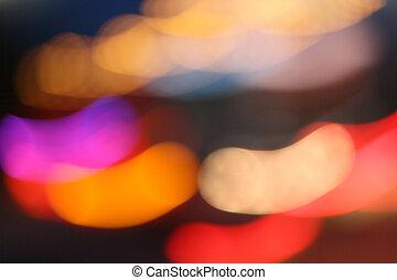 Light trails on black background