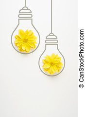 Light up. - Creative concept photo of flowers with...