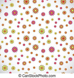 Light vector floral background