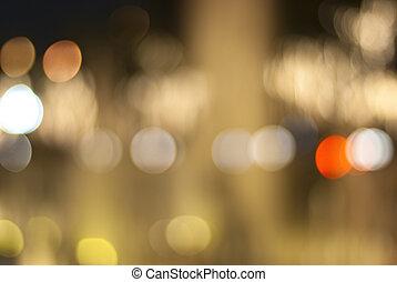 light via bokeh at night