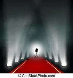 light., vient, homme