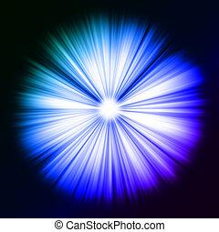 light:, vigas, estrela, coloridos, brilhar