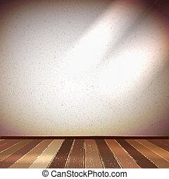 Light wall with a spot illumination. EPS 10